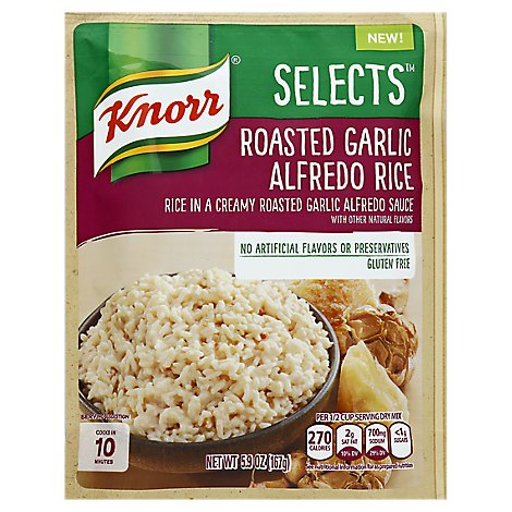Knorr Selects Rice Alfredo Roasted Garlic Pouch - 5.9 Oz
