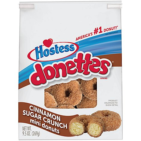Hostess Donuts Mini Cinnamon Sugar Crunch - 9.5 Oz