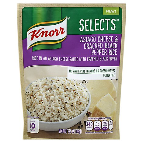 Knorr Selects Rice Pepper Asiago Cheese & Cracked Black Pouch - 5.5 Oz
