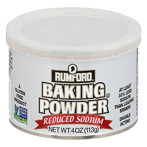 Rumford Baking Powder Reduced Sodium - 4 Oz