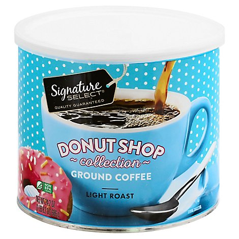 Signature SELECT Donut Shop Collection Coffee Ground Light Roast - 24.2 Oz