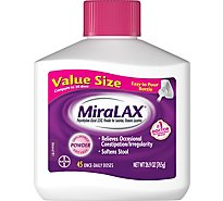 MiraLAX Laxative Osmotic Softens Stool 45 Count - 26.9 Oz