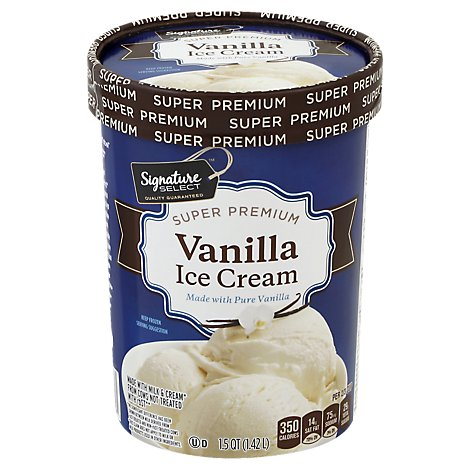 Signature SELECT Ice Cream Super Premium Vanilla - 1.5 Quart