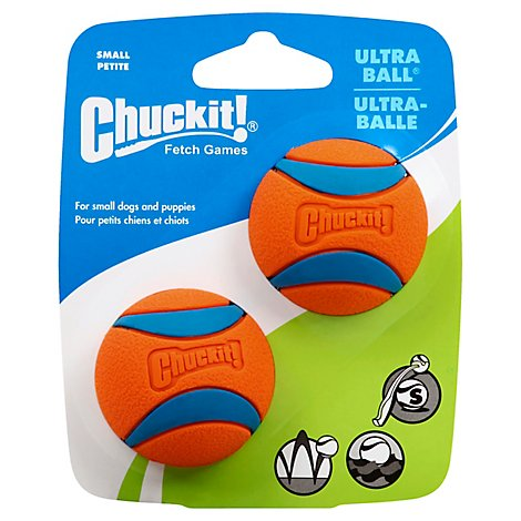 Chuckit! Dog Toy Ultra Ball Small Pack - 2 Count