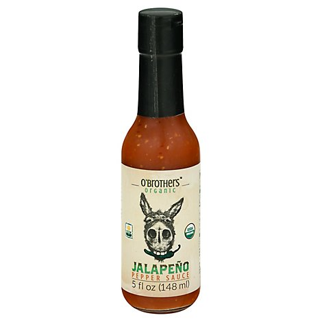 O Brother Hot Sauce Jalapeno Om - 5 Oz