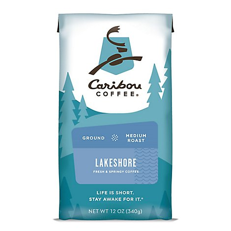 Caribou Coffee Coffee Ground Medium Roast Lake Shore Blend - 12 Oz