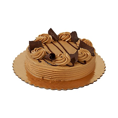 Bakery Cake 8 Inch 1 Layer Peanut Butter Iced - Each