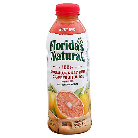 Floridas Natural Ruby Red Grapefruit Juice 100% Chilled - 1 Liter
