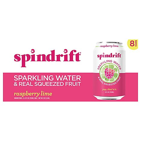 Spindrift Sparkling Water Raspberry Lime - 8-12 Fl. Oz.