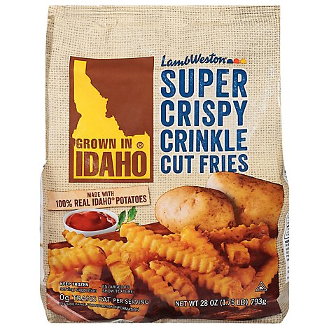 Lamb Weston Fries Potato Super Crispy Crinkle Cut - 28 Oz
