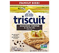 Triscuit Crackers Cracked Pepper & Olive Oil Family Size - 12.5 Oz