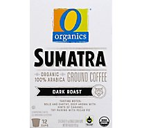 O Organics Coffee Organic Single Serve Cups Dark Roast Sumatran - 12-0.39 Oz