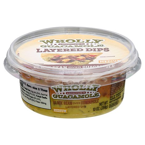 Wholly Guacamole Dip Black Bean Over Guacamole - 10 Oz