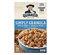 Quaker Granola Simply Oats & Honey With Vanilla & Pecan - 26 Oz
