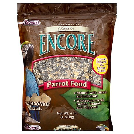 Browns Encore Pet Food Natural Parrot Food Classic Bag - 4 Lb