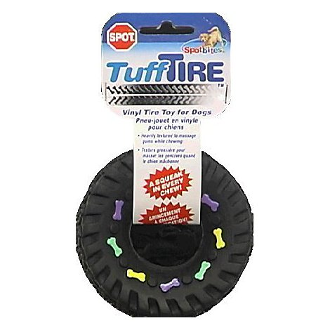 SPOT Dog Toy Tuff Tire Vinyl Card - Each
