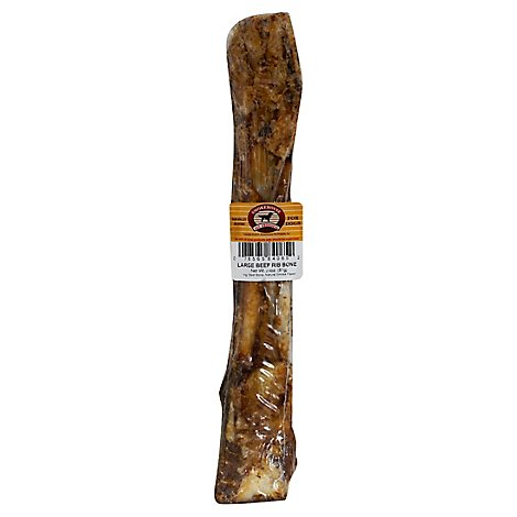 Smokehouse Dog Treats Beef Bone Rib Bone 12 Inch - Each
