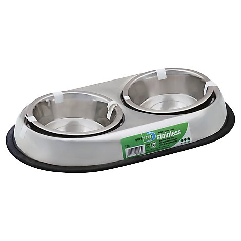Van Ness Pet Dish Stainless Steel Heavyweight Double 16 Oz SS6 - Each