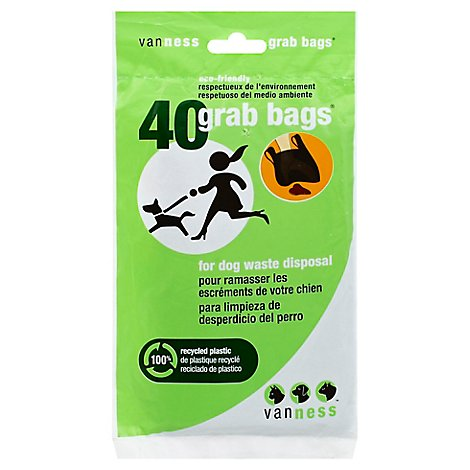 Van Ness Grab Bags For Dog Waste Disposal Pouch - 40 Count