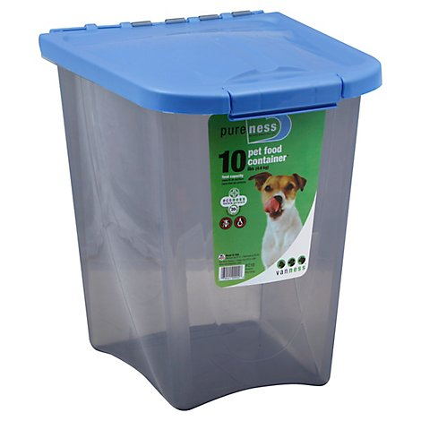 Van Ness Pureness Pet Food Container 10 Lb Food Capacity - Each