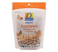 O Organics Organic Cashews Roasted with Sea Salt - 10 Oz