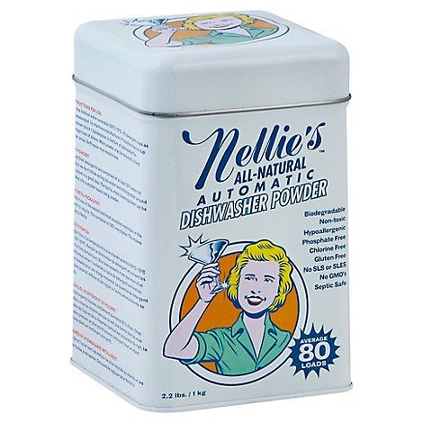 Nellies All Natural Dishwasher Powder Automatic Can - 2.2 Lb