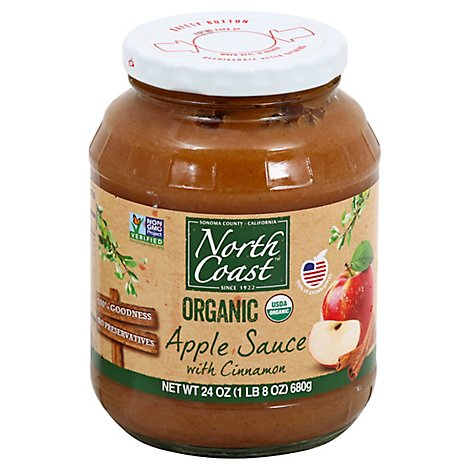 North Coast Organic Apple Sauce Cinnamon - 24 Oz