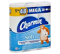 Charmin Ultra Soft Bathroom Tissue Mega Rolls 2 Ply Sheets - 12 Roll