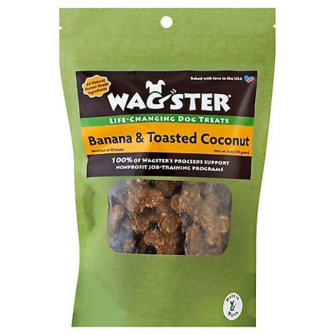 Wagster Dog Treats Life Changing Banana & Toasted Coconut Pouch - 6 Oz