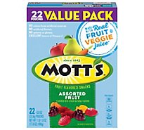 Motts Fruit Flavored Snacks Medleys Assorted Fruit Value Pack - 22-0.8 Oz