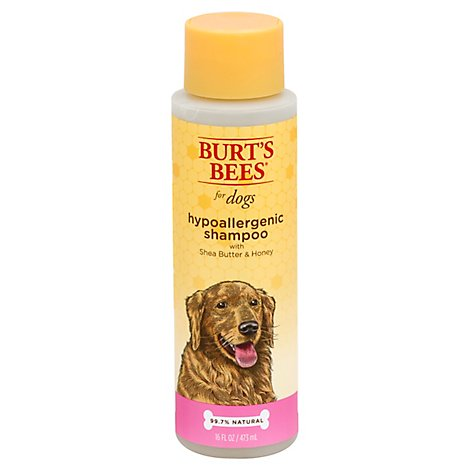 Burts Bees Dog Shampoo Hypoallergenic With Shea Butter & Honey Bottle - 16 Fl. Oz.