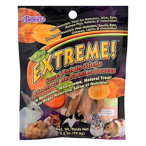 Browns Extreme! Pet Treats Natural Sweet Potato Sticks Pouch - 3.5 Oz