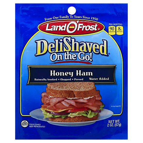 Land O Frost Deli Shaved On The Go Honey Ham - 2 Oz