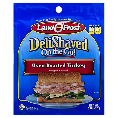 Land O Frost Deli Shaved On The Go Oven Roasted Turkey - 2 Oz