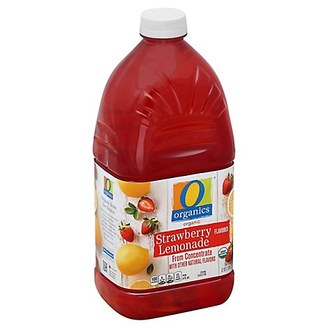 O Organics Organic Lemonade Strawberry - 64 Fl. Oz.