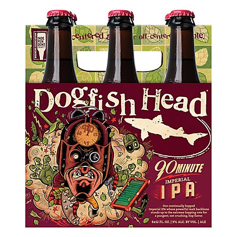 Dogfish Head 90 Minute Ipa In Bottles - 6-12 Fl. Oz.