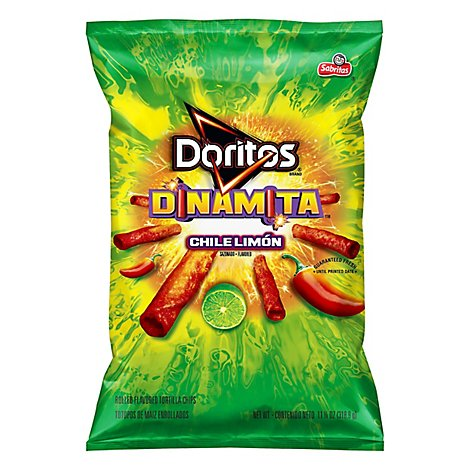 Doritos Tortilla Chips Dinamita Chile Limon - 11.25 Oz