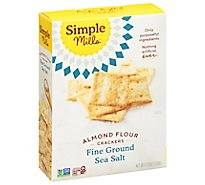 Simple Mills Fine Ground Sea Salt Almond Flour Crackers - 4.25 Oz
