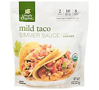 Simply Organic Simmer Sauce Mild Taco for Chicken Pouch - 8 Oz