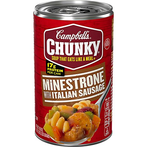Campbells Chunky Soup Minestrone With Italian Sausage - 18.8 Oz