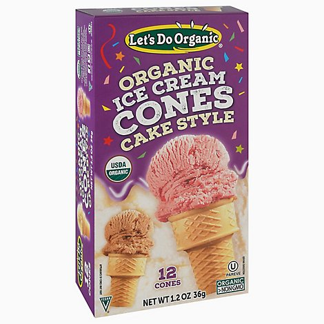Lets Do Ice Cream Cones Organic 12 Count - 1.2 Oz