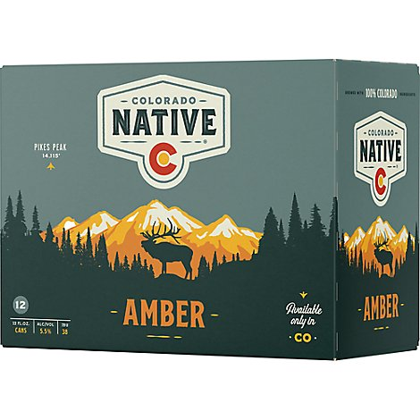 Colorado Native Lager Beer Cans 5.5% ABV - 12-12 Fl. Oz.