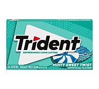 Trident Gum Minty Sweet Twist Sf - 14 Count