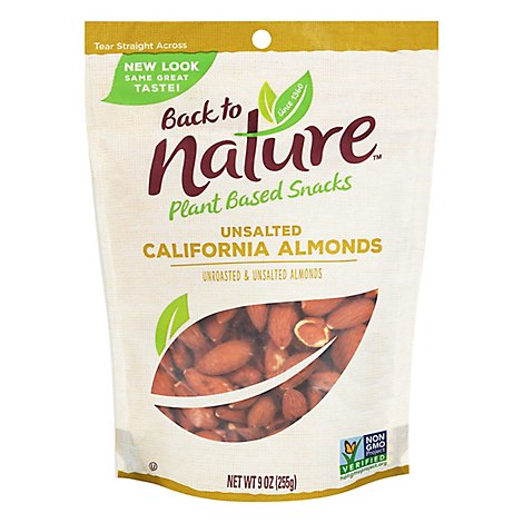 Back To Nature Almonds Unrstd Unsalted - 9 Oz