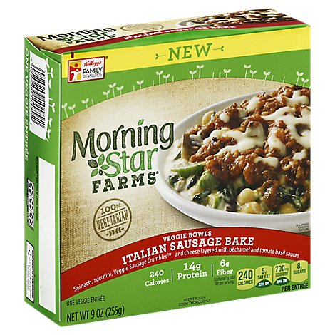 MorningStar Farms Veggie Bowls 100% Vegetarian Italian Sausage Bake - 9 Oz