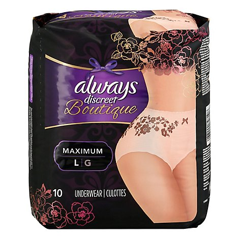 Always Discreet Boutique Large - 10 Count