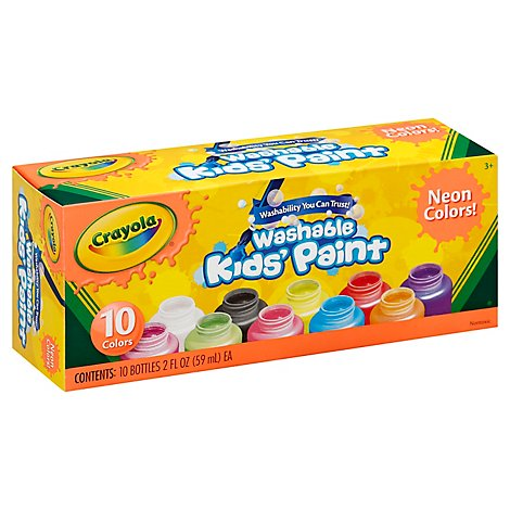 Crayola Neon Paint - 10 Count