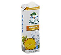 Zola Coconut Water Pineapple - 33.8 Fl. Oz.