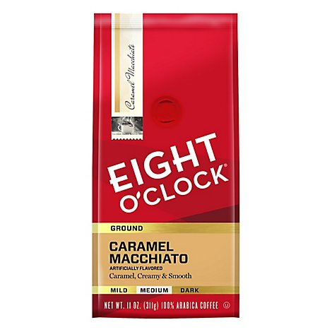 Eight O Clock Coffee Ground Medium Roast Caramel Macchiato - 11 Oz