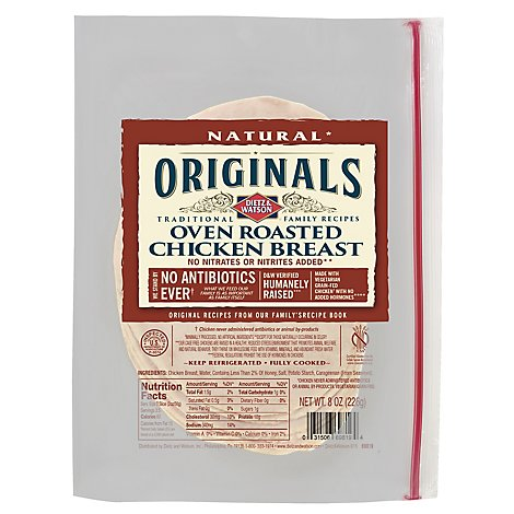 Dietz & Watson Originals ABF Oven Roasted Chicken Breast - 7 Oz